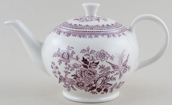Burleigh Asiatic Pheasants plum Teapot large