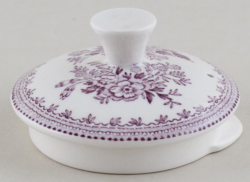 Burleigh Asiatic Pheasants plum Teapot Lid large