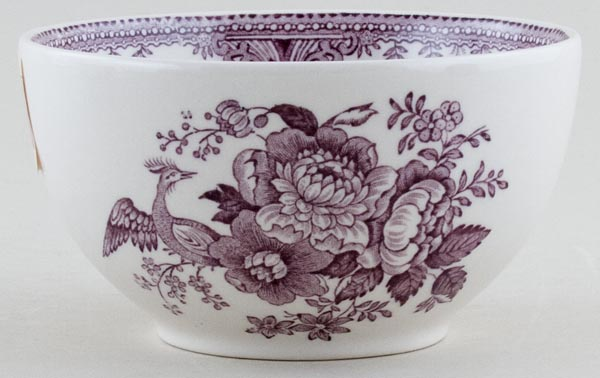 Burleigh Asiatic Pheasants plum Sugar Bowl large