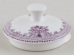 Burleigh Asiatic Pheasants plum Teapot Lid small