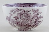 Burleigh Asiatic Pheasants plum Sugar Bowl small
