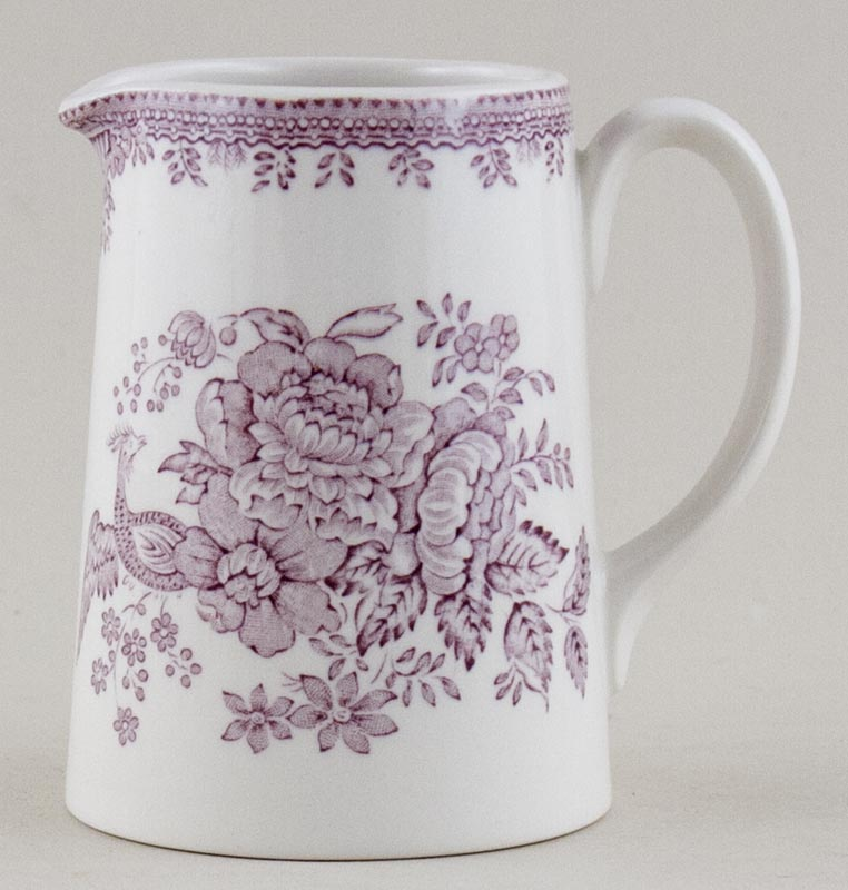 Burleigh Asiatic Pheasants plum Jug or Pitcher Tankard small