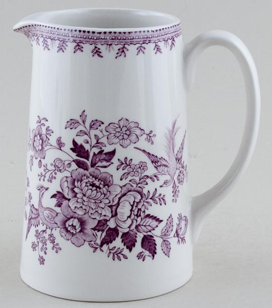 Burleigh Asiatic Pheasants plum Jug or Pitcher Tankard medium