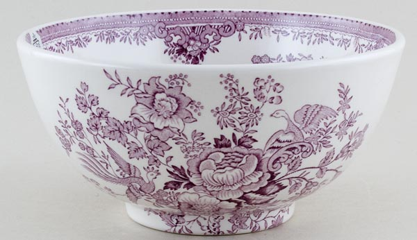 Burleigh Asiatic Pheasants plum Chinese Bowl medium