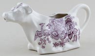 Burleigh Asiatic Pheasants plum Cow Creamer