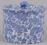 Burleigh Burgess Chintz Butter Dish with Cover round