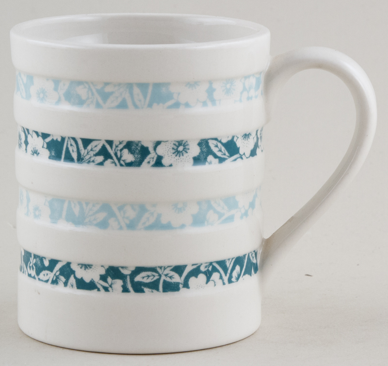 Burleigh Calico Mug Hooped Jade