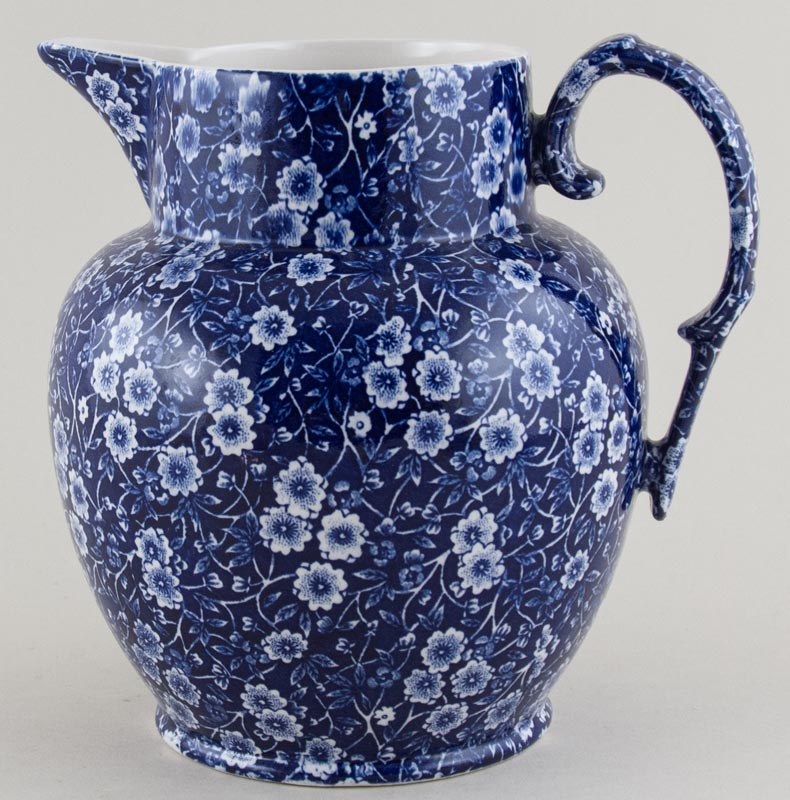 Burleigh Calico Jug or Pitcher Etruscan large
