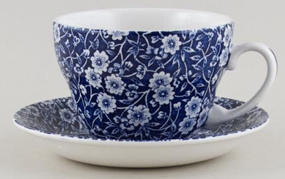 Burleigh Calico Breakfast Cup and Saucer