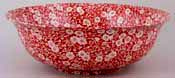 Burleigh Calico red Fruit or Salad Bowl large