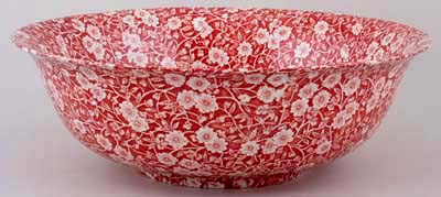 Burleigh Calico Red Fruit Or Salad Bowl Large Lovers Of