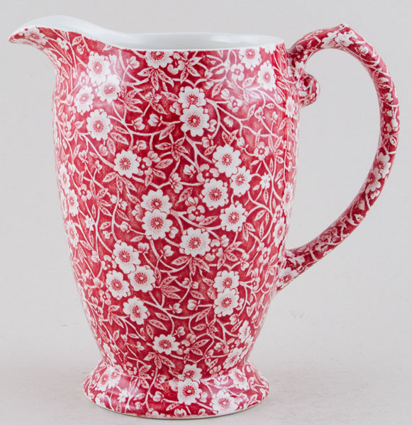 Burleigh Calico red Jug or Pitcher Princess