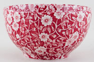 Burleigh Calico red Sugar Bowl large