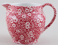 Burleigh Calico red Jug or Pitcher Dutch large