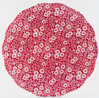 Burleigh Calico red Cake Plate