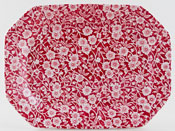Burleigh Calico red Meat Dish or Platter rectangular small