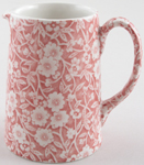 Burleigh Calico pink Jug or Pitcher Tankard small