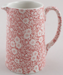 Burleigh Calico pink Jug or Pitcher Tankard medium