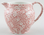 Burleigh Calico pink Jug or Pitcher Dutch large