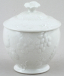 Burleigh Davenport white Sugar Pot with Cover