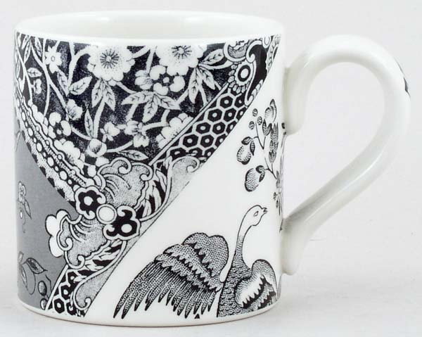 Burleigh Engravers Collection black Mug