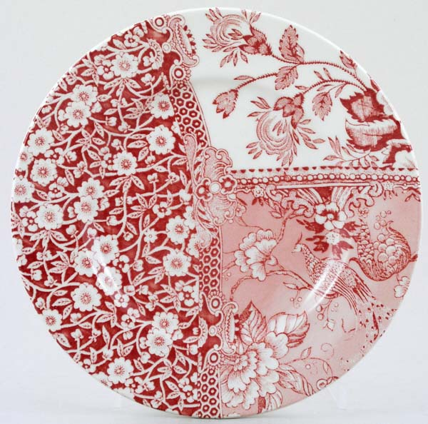 Burleigh Engravers Collection pink Side or Cheese Accent Plate