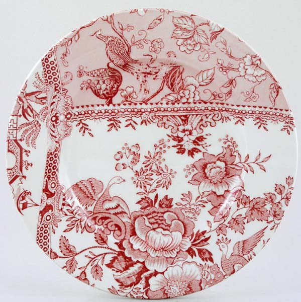 Burleigh Engravers Collection pink Lunch Accent Plate