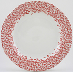 Burleigh Felicity red Dinner Plate Accent