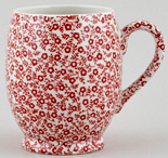 Burleigh Felicity red Mug Footed