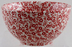 Burleigh Felicity red Sugar Bowl medium