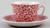 Burleigh Felicity red Teacup and Saucer
