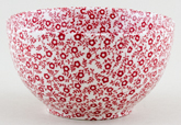 Burleigh Felicity red Sugar Bowl large