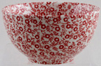 Burleigh Felicity red Sugar Bowl small