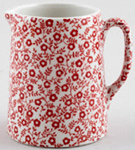 Burleigh Felicity red Jug or Pitcher Tankard mini