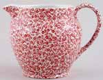 Burleigh Felicity red Jug or Pitcher Dutch large