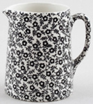 Burleigh Felicity black Jug or Pitcher Tankard mini
