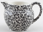 Burleigh Felicity black Jug or Pitcher Dutch small