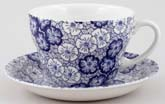 Burleigh Gentian dark Breakfast Cup and Saucer
