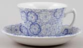 Burleigh Gentian Teacup and Saucer