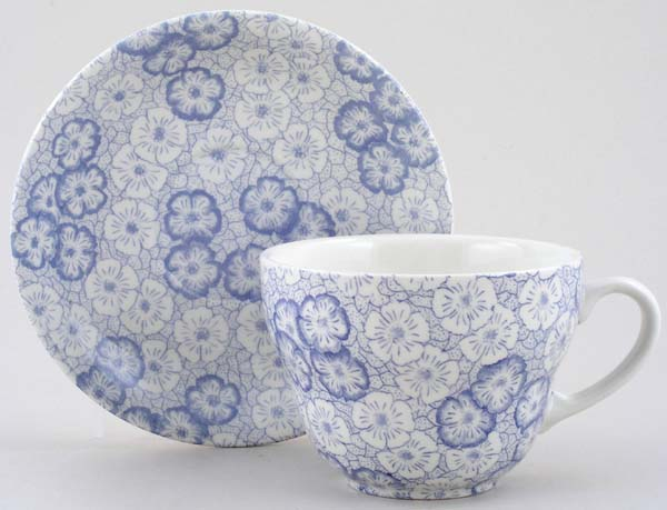 Burleigh Gentian Breakfast Cup and Saucer