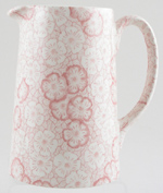 Burleigh Gentian pink Jug or Pitcher Tankard medium