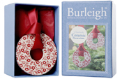 Burleigh Calico red and Felicity red Christmas Decorations 4 pack