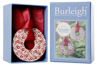 Burleigh Calico and Felicity red Christmas Decorations 4 pack