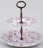 Burleigh Asiatic Pheasants and Prunus plum Cake Stand 2 tier