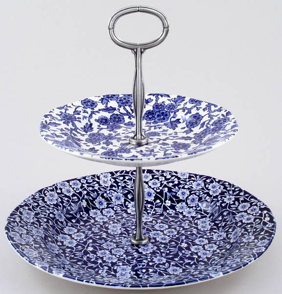 Burleigh Calico and Arden Cake Stand 2 tier