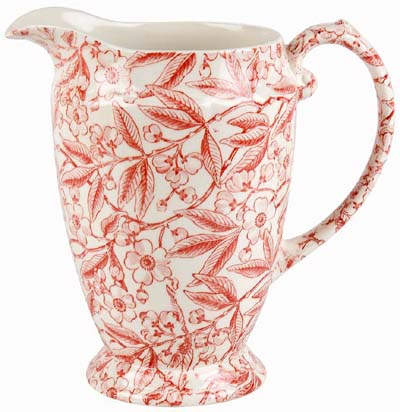 Burleigh Prunus red Jug or Pitcher Princess