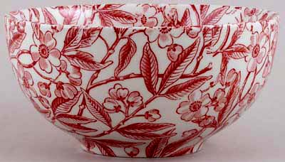 Burleigh Prunus red Chinese Bowl small