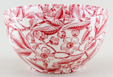 Burleigh Prunus red Sugar Bowl large