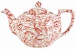 Burleigh Prunus red Teapot small