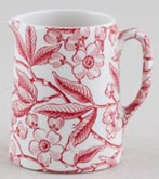Burleigh Prunus red Jug or Pitcher Tankard mini